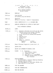 Camp Ta-Ha-Do-Wa Daily Schedule