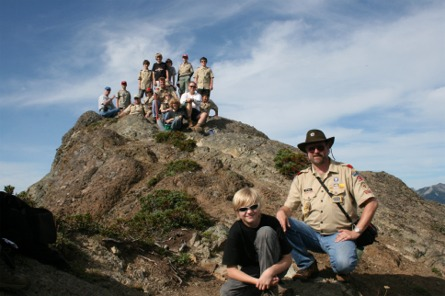 Troop 27 on the summit of Mt. Beljica