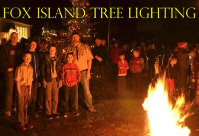 Fox Island Annual Tree Lighting & Bonfire